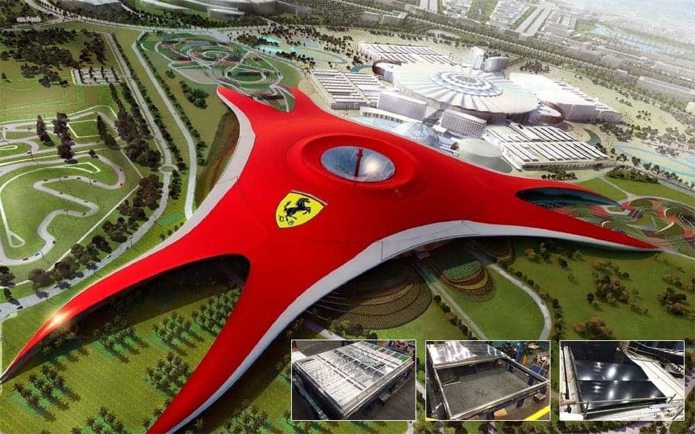 Sliding Roof Access - Ferrari World Ferrari World Surespan Case Study